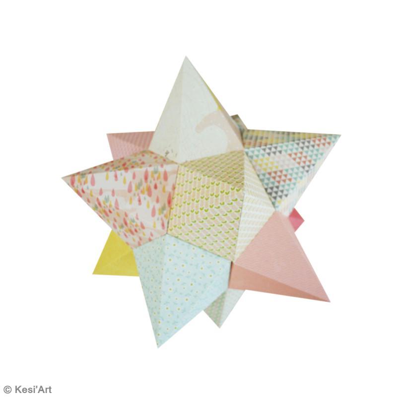diy etoile en papier id es conseils et tuto origami modulaire 3d. Black Bedroom Furniture Sets. Home Design Ideas