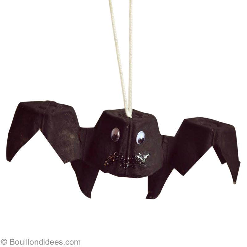 bricolage halloween facile chauve souris r cup id es conseils et tuto activit manuelle enfant. Black Bedroom Furniture Sets. Home Design Ideas