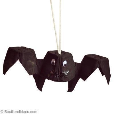 bricolage halloween facile chauve souris r cup id es. Black Bedroom Furniture Sets. Home Design Ideas