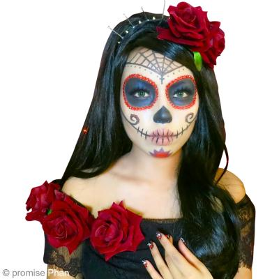 diy maquillage halloween f te des morts mexicaine. Black Bedroom Furniture Sets. Home Design Ideas