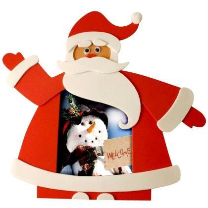 Cadre Père Noël en carton mousse