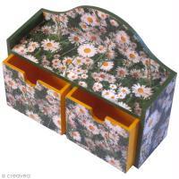 DIY Serviettage : Petite commode décorée