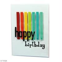 DIY Carte Anniversaire couleur Arc-en-ciel