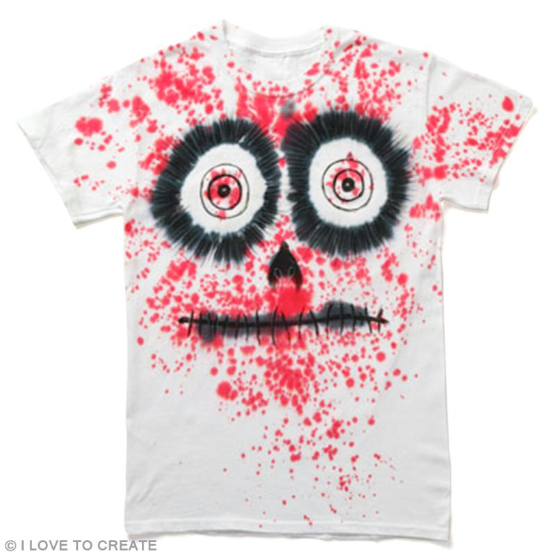 bricolage diy halloween tee shirt customis la peinture id es conseils et tuto halloween. Black Bedroom Furniture Sets. Home Design Ideas