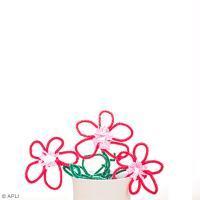 Bricolage enfant : Fleurs en fil chenille