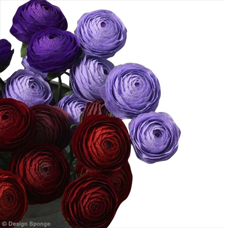 Diy Jolies Fleurs Renoncules En Papier Crépon Idées
