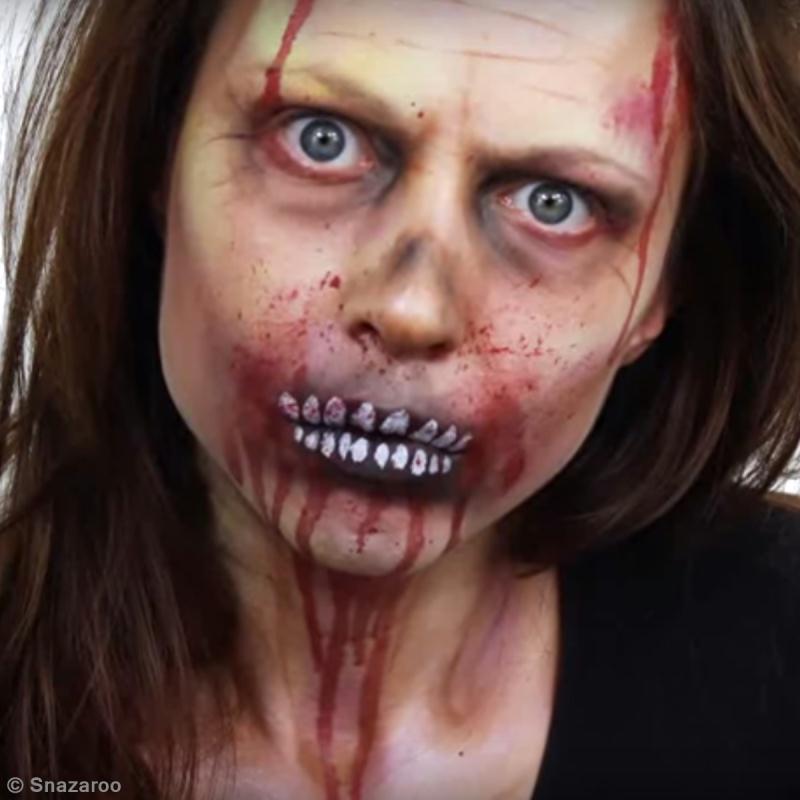 Tuto maquillage zombie halloween id es conseils et tuto halloween - Maquillage zombie simple ...