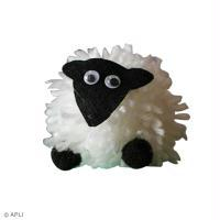 DIY Mouton en laine en pompon