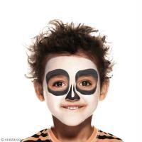 maquillage squelette garcon facile