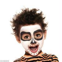Maquillage squelette garçon facile