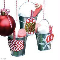 Bricolage Noël Calendrier de l'Avent Seau - Noël traditionnel