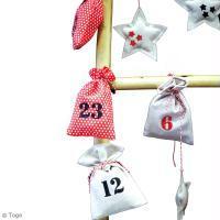 Bricolage Noël Calendrier de l'Avent Pochons en tissu - Noel Traditionnel