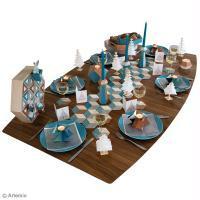 Décoration de table de Noël géométrique