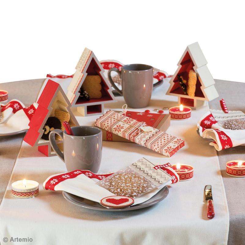 Diy d co de table no l traditionnel jacquard id es conseils et tuto no l traditionnel - Idee table de noel ...