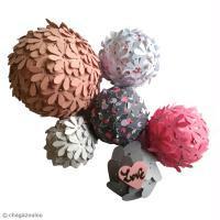DIY Boule en polystyrène et papier