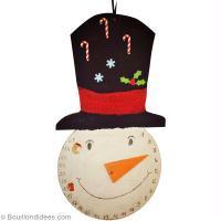 Bricolage de Noël enfant : Calendrier de l'avent bonhomme de neige