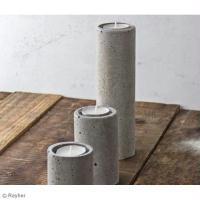 DIY Bougeoir en béton créatif