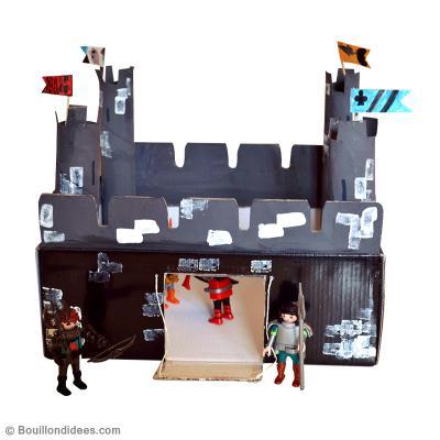 bricolage enfant fabriquer un chateau fort en carton id es conseils et tuto activit. Black Bedroom Furniture Sets. Home Design Ideas