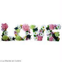 DIY Love fleuri