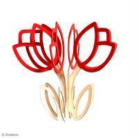 DIY Saint Valentin : Décoration de fleurs en bois