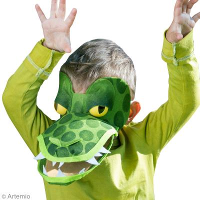 Bricolage Carnaval Masque De Crocodile Facile Avec Patron