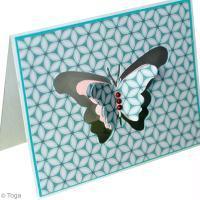 DIY scrapbooking : Ma carte papillon Jardin secret