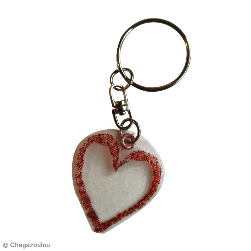Diy porte cl coeur transparent id es conseils et tuto for Coeur couronne et miroir apollinaire