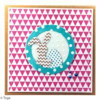 DIY Carte colorée Lapin de Pâques