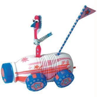Tirelire voiture pour enfant aux feutres Posca Uni ball