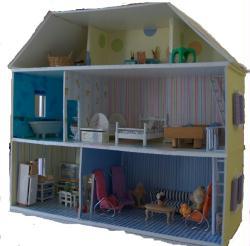Fabriquer maison de poup e en carton plume id es conseils et tuto maquettes et miniatures - Fabrication maison en carton ...