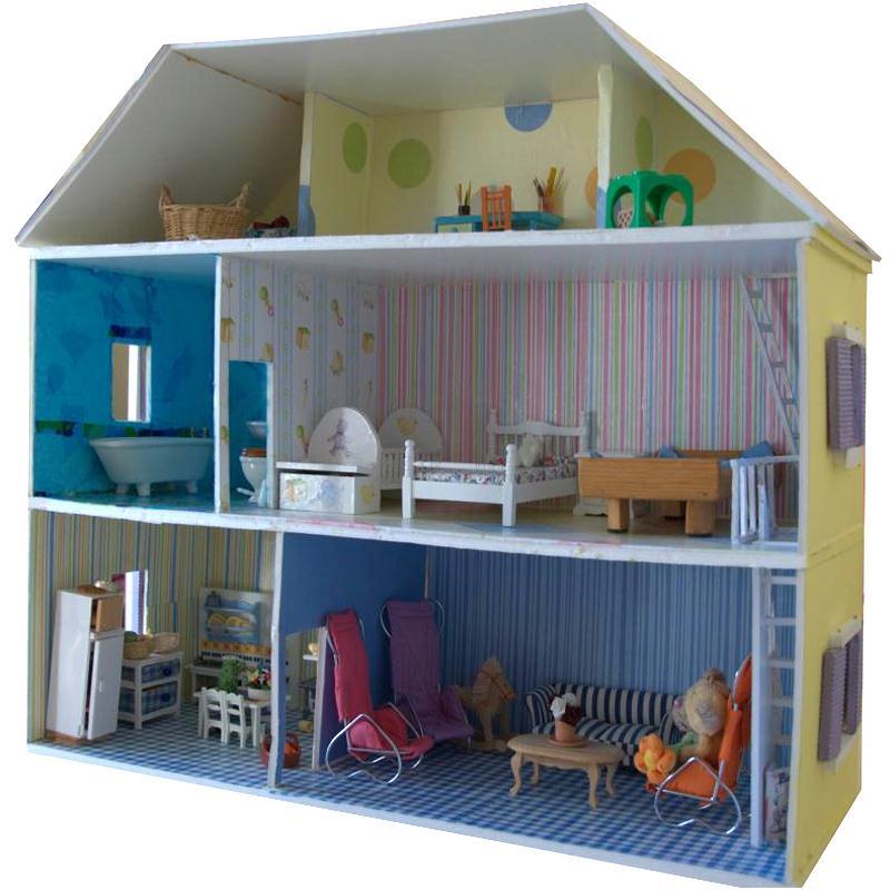 Célèbre Fabriquer maison de poupée en carton plume - Idées conseils et  VF29