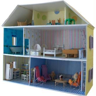 Fabriquer maison de poupée en carton plume