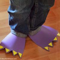 DIY déguisement facile à faire : Pieds de Dinosaures