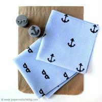 DIY Fête des Pères : Customiser un mouchoir en tissu