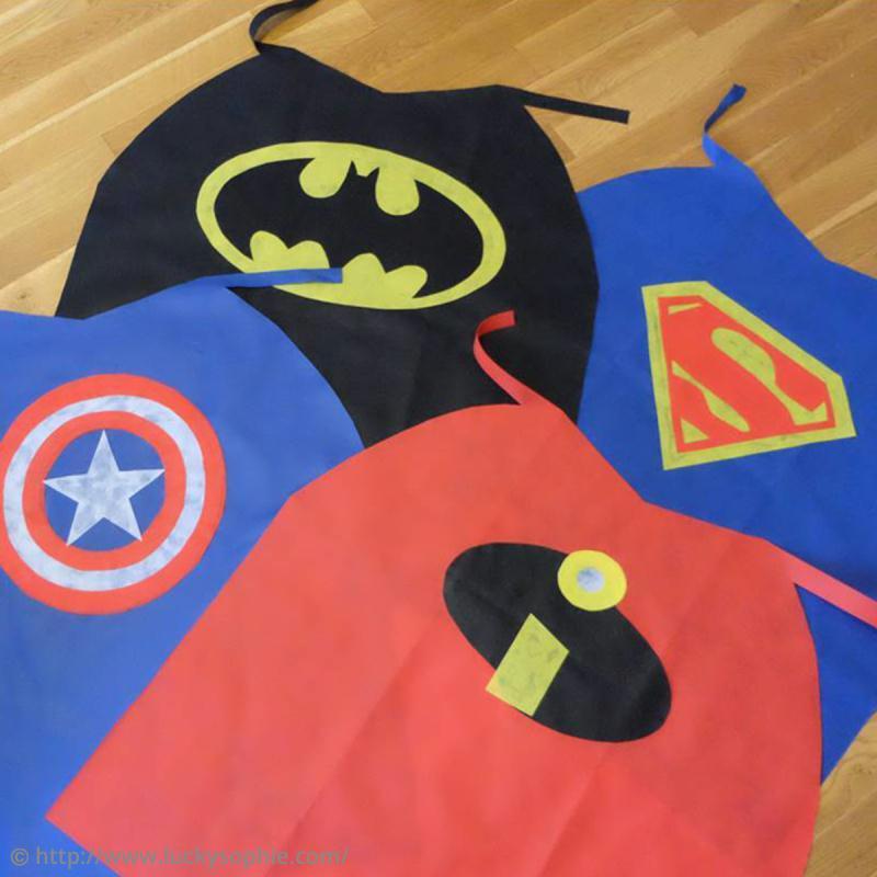 Bekannt Tutoriel déguisement facile : Cape de super-héros - Idées conseils  JV58