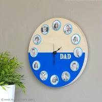 DIY Une horloge personnalisée pour la Fête des Pères