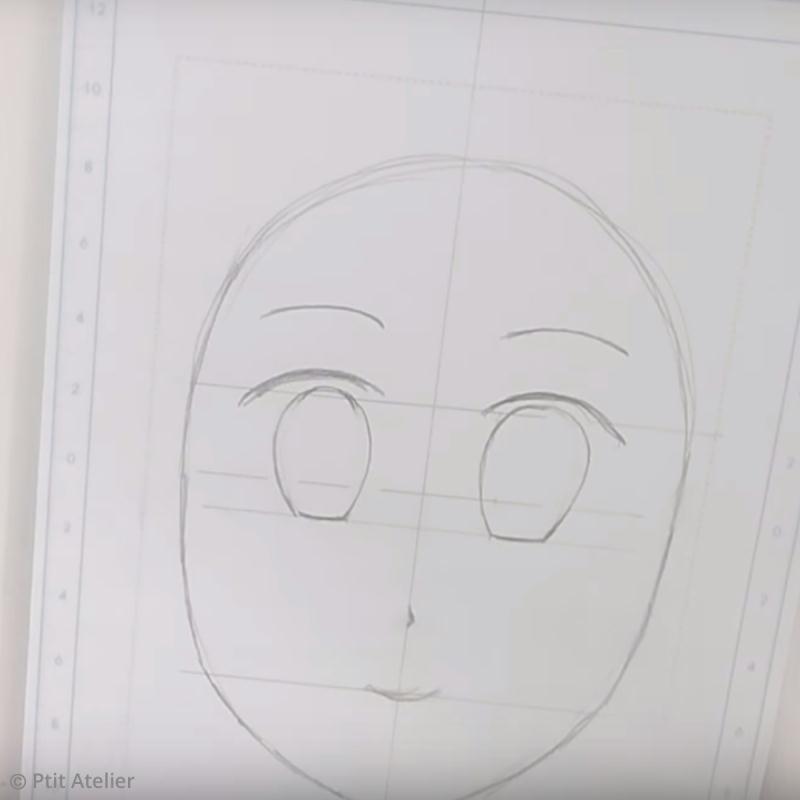 Célèbre Tuto dessin manga : Croquis d'une tête de personnage - Idées  FV83