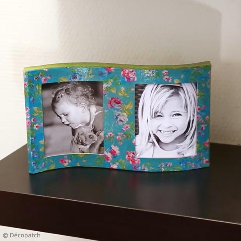 Comment decorer un cadre photo en bois inspiration du blog - Fabriquer cadre tableau ...