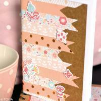 DIY Scrap : Décoration d'un carnet champêtre