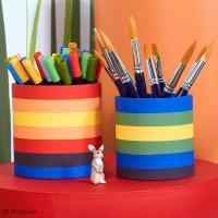 DIY Déco de bureau : Colorer un pot à crayons
