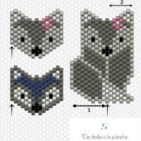 2. Diagrammes Renards pour Brick Stitch