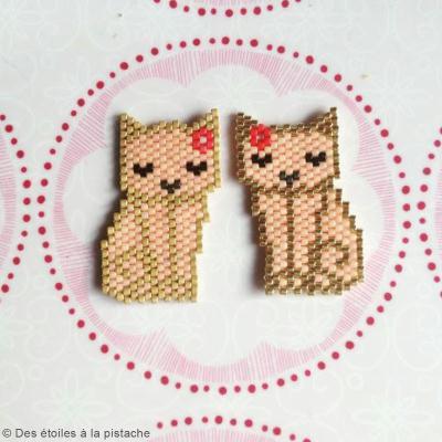 Diagramme Brick Stitch : Chats Mitsy