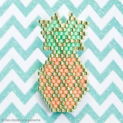 Diagramme Brick Stitch : Ananas