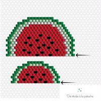 2. Pastèque Brick Stitch : Diagramme
