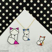 DIY Collier Origami renard