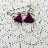 DIY Accessoire mode : Broche décorée pompon