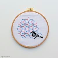 DIY Broderie : Oiseau géométrique avec Jules Coton - EXCLU