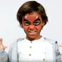 Maquillage Halloween : Démon rouge (tuto vidéo)