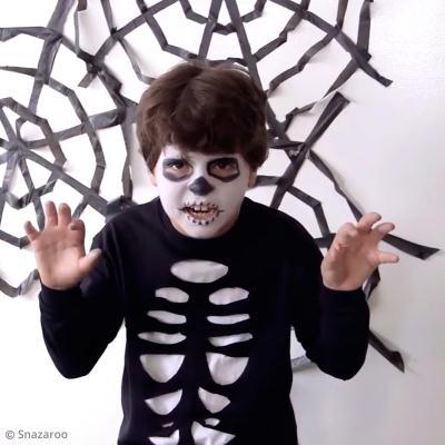 Déguisement Halloween Facile Squelette Diy Vidéo Idées