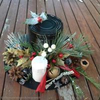 Déco de Noël : Chapeau de bonhomme de neige